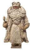 Paper-mache Santa Claus toy (with ice-cream). Antique paper-mache Santa Claus toy  (with ice-cream), Russia Stock Images
