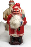 Paper-mache Santa Claus toys. Antique paper-mache Santa Claus toys, Russia Royalty Free Stock Images