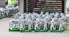 Paper mache zebra Stock Images
