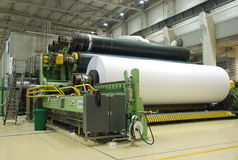 Paper machine Stock Image