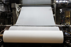 The paper machine in the factory Stock Images