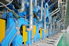 paper machinery equipment in a factory Stock Photo