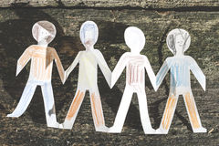 Paper made people figures Stock Image