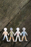 Paper made people figures Royalty Free Stock Photos