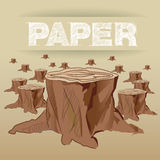 Paper is made with tree Stock Image