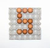 paper magasin för ägg för marknadsplats Arkivbilder