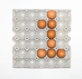 paper magasin för ägg för marknadsplats Royaltyfria Foton