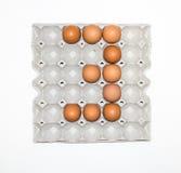 paper magasin för ägg för marknadsplats Royaltyfri Bild