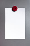 Paper on magnetic board Stock Photo