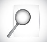 Paper and magnify glass illustration design Royalty Free Stock Photo