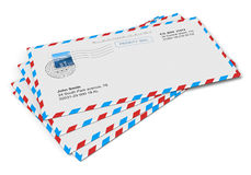 Paper mail letters Royalty Free Stock Photos