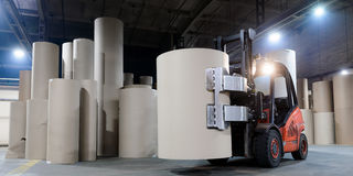 Paper making factory Royalty Free Stock Photo