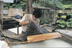 Paper  making by hand in west china Royalty Free Stock Photography