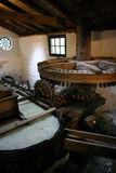 Paper Making Machine. In a medieval building Royalty Free Stock Image