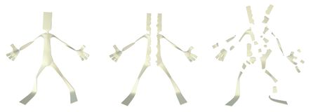 Paper Man Figure, Torn Royalty Free Stock Images