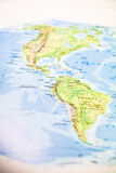 Map of the Americas Royalty Free Stock Photography