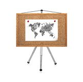 Paper with map Royalty Free Stock Photography