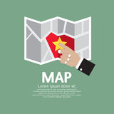 Paper Map In Hand Royalty Free Stock Image