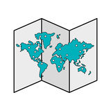 Paper map icon image Stock Photos