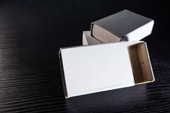 Paper Match Boxes Cartons Cardboard White Blank Template Contraast Royalty Free Stock Images