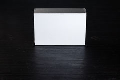 Paper Match Boxes Cartons Cardboard White Blank Template Contraast Stock Image