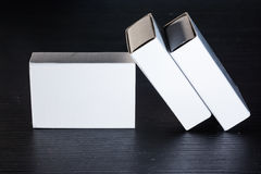 Paper Match Boxes Cartons Cardboard White Blank Template Contraast Royalty Free Stock Image