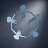 Paper men. 3d render of paper people in a circle Stock Photography