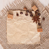 Paper menu and spices Royalty Free Stock Photography