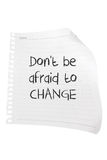 Paper with Message of Inspiration. On White Background Royalty Free Stock Photo