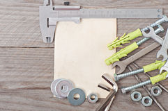 Paper and metalwork tools Stock Photo