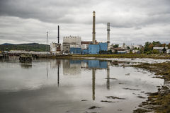 Paper Mill in Bucksport Maine Royalty Free Stock Image