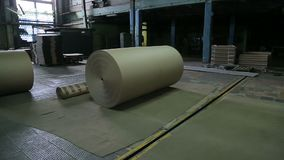 Paper mill in operation. Paper mill for the production of cardboard and paper in the work stock video