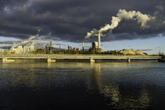 Paper mill. Royalty Free Stock Photography