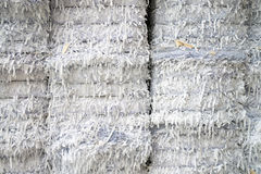 Paper mill plant - Paper and cardboard for recycling. Waste paper recycling. This paper mill is a factory devoted to making paper and cardboard from recycled royalty free stock images