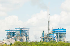 Paper mill in production Royalty Free Stock Images