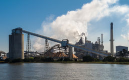 Paper Mill. A pulp and paper mill stock photos