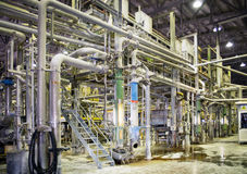 Paper Mill - Pulping department Royalty Free Stock Images