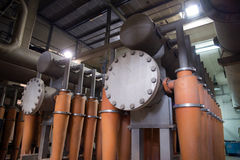 Paper Mill - Pulping department Stock Photo