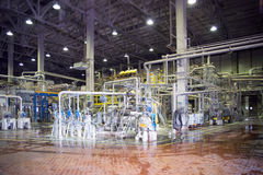 Paper Mill - Pulping department Stock Image