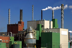 Paper Mill in Quebec, Canada. This a view of a paper mill in Thurso, Quebec, Canada stock photo