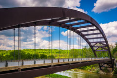The Paper Mill Road Bridge over Loch Raven Reservoir in Baltimor Stock Photos