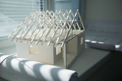 Paper model of a house Stock Photo
