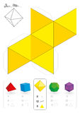 Paper Model Octahedron Royalty Free Stock Images