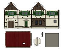 Paper model of an old half timbered house Royalty Free Stock Photos