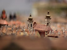 Paper model of Prague Royalty Free Stock Photos