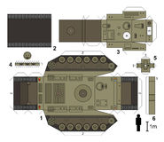 Paper model of a tank Royalty Free Stock Photos