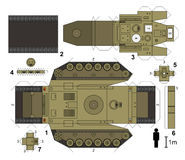 Paper model of a tank. Not a real type, vector illustration Royalty Free Stock Photos