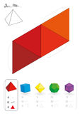 Paper Model Tetrahedron Royalty Free Stock Photos