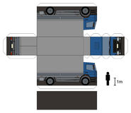 Paper model of a truck. Paper model of a blue cover delivery truck Royalty Free Illustration