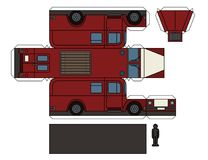 Paper model of an old fire truck Royalty Free Stock Photography